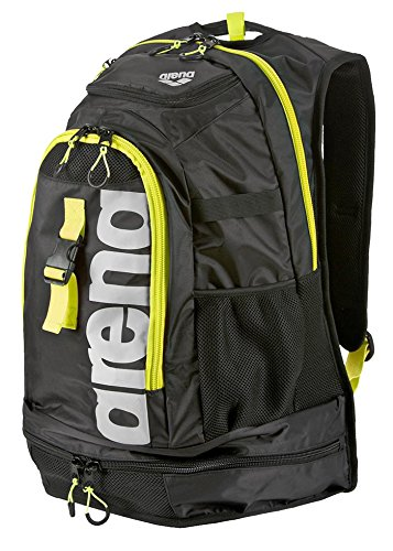 Arena Fastpack 2.1 - Mochila, Black/Fluo Yellow/Silver, Size NS