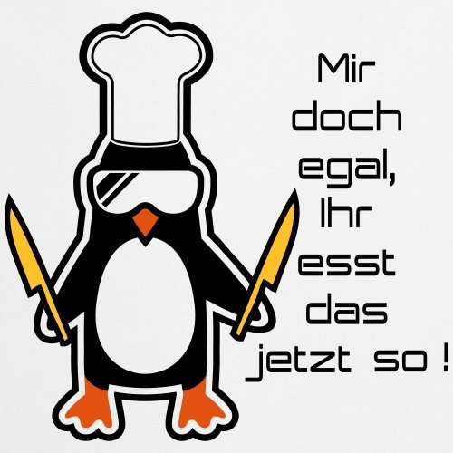 Spreadshirt Ihr Esst Das So Pinguin Kochmütze Lustiger Spruch