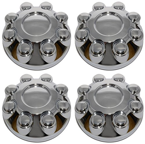 BB Auto Set of 4 New 8 Lug Chrome Wheel Center Caps Covers Replacement for 2003-2013 Dodge RAM 1500 2500 3500 Truck (Dodge Rim Covers)