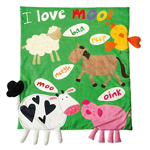 Throw Farm - b.Boutique Life on The Farm Story Time Reversible Blanket
