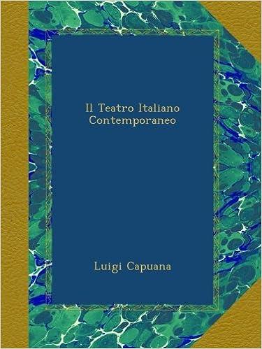 Il Teatro Italiano Contemporaneo