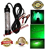 12V LED GREEN UNDERWATER SUBMERSIBLE NIGHT FISHING LIGHT crappie squid boat