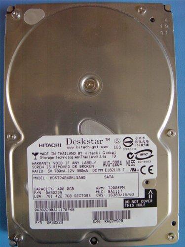 8 Mb 1.5gb/s Buffer (Deskstar 7K400 Hard Drive - 400 Gb - Internal - 3.5IN - SATA-150-7 Pin Serial)