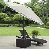 Better Homes and Gardens Avila Modern Beach Umbrella Patio Table