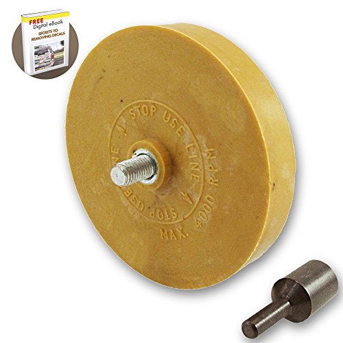 Decal Remover Eraser Wheel. Remove Car Decals, Vinyl & Stickers in Minutes with the 4