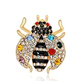 YYOGG Fashion Faux, Diamonds, Ladybirds, Insect Animals, brooches, Accessories, Simple Needles