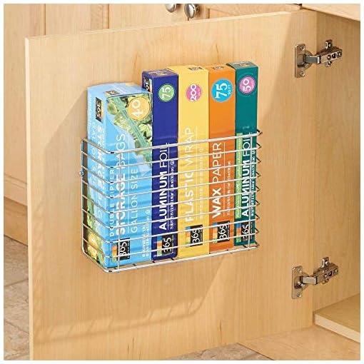 Cabinet Door Organizers 2 Pack Wall Door Mount Kitchen Wrap Organizer Rack,Chrome Cabinet Door Pantry Door Wall Mount Kitchen Storage Organizer… cabinet door organizers