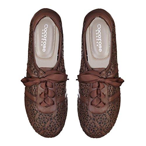 Cocorose Faltbare Schuhe - Carnaby Damen Espadrillas Marrone Taglio Laser