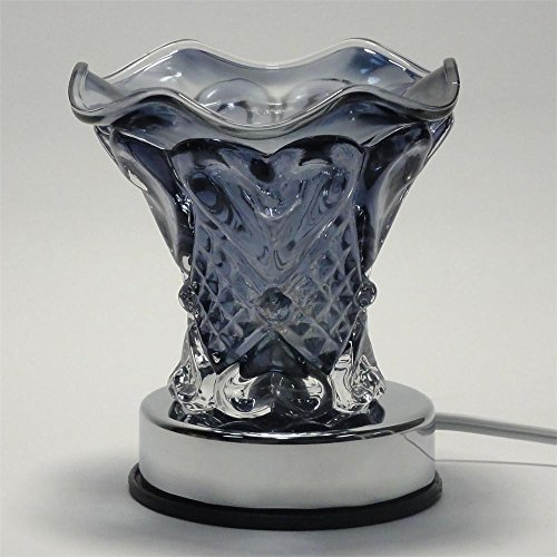 Amplic Glass Electric Heart Scent Oil Tart Fragrance Touch Lamp Diffuser Warmer Burner
