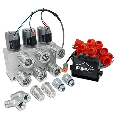 - Summit Hydraulics Hydraulic Multiplier Kit, 3 Circuit Selector Valve Including Couplers and Switch Box Control