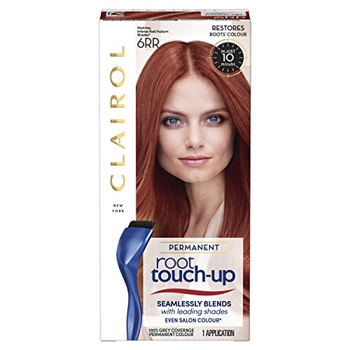 Clairol Root Touch-Up Permanent Hair Dye, 6RR Intense Red, Full Coverage and Easy Application, 50 ml