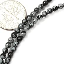 GEM-inside 3mm Round Snowflake Obsidian Agate Beads Strand 15 Inches Fashion Jewellry Making Beads