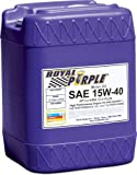 Royal Purple 05154 API-Licensed SAE 15W-40 High Performance Synthetic Motor Oil - 5 gal.