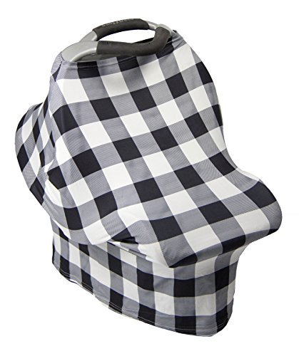 (Car Seat & Nursing Cover Keep Your Baby Cozy, Protected & Happy When You're On the Move Soft & Silky Breastfeeding Canopy The MUST HAVE Item For New Parents)