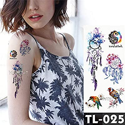 tzxdbh 3PcsTatuaje Etiqueta engomada Arte Corporal Tatuaje ...