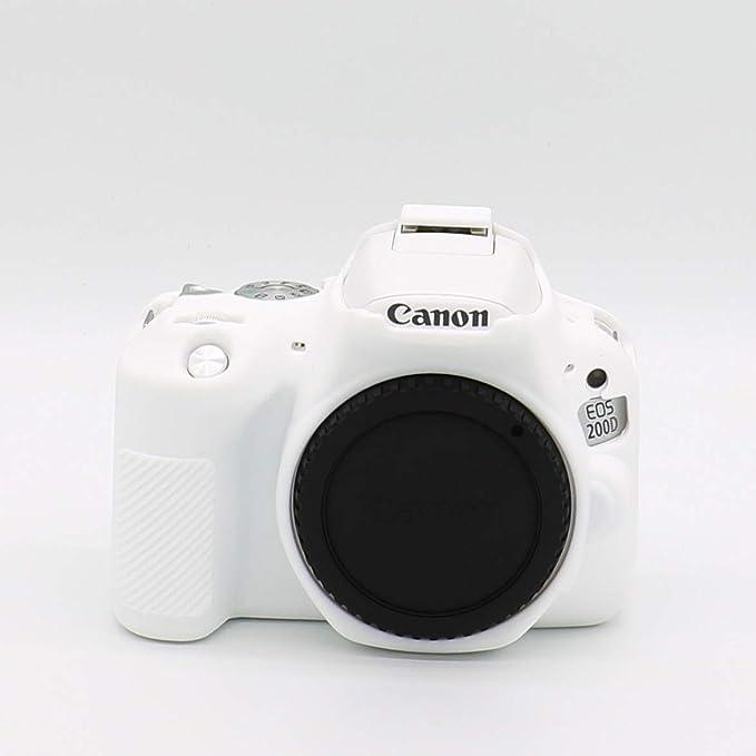 HelloPower - Funda Protectora para cámara Canon EOS 200D (Silicona ...