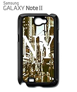 New York NY Retro Mobile Cell Phone Case Samsung Note 2 Black
