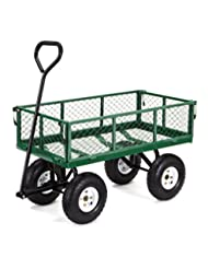 Gorilla Carts Steel Garden Cart with Removable Sides with a C...