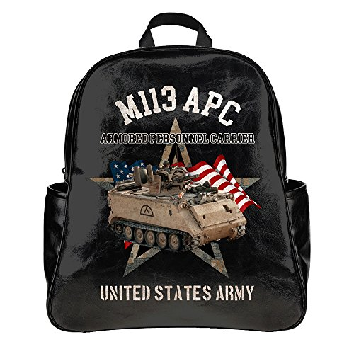 Designer USA Army M113 APC-School Bags Backpack Adult Student (PU (Apc Backpack)