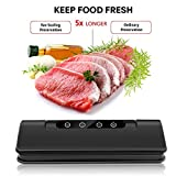 Vacuum Sealer Machine, Automatic Fresh Food-Sealer, Food-saver, Vacuum Packing Machine For Fruits, Meat and Wine Preservation with | Dry & Moist Sealing Modes | Sous Vide bags | LED Indicator Lights