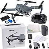 DJI Mavic Pro Collapsible Quadcopter Drone Videographer Bundle with Remote Controller, Intelligent Flight Battery, 8330 Folding Propellers, Gimbal Clamp, AC Power Cable, 16GB microSD Card + More