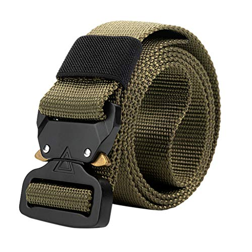 Training Belt Simple Elasticity Comfortable Tactical Military Canvas Belt Military Men's Outdoor Training Belt