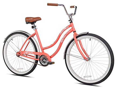 - Pedal Chic Women's 26'' Coral Crush Cruiser Bicycle, 18.75