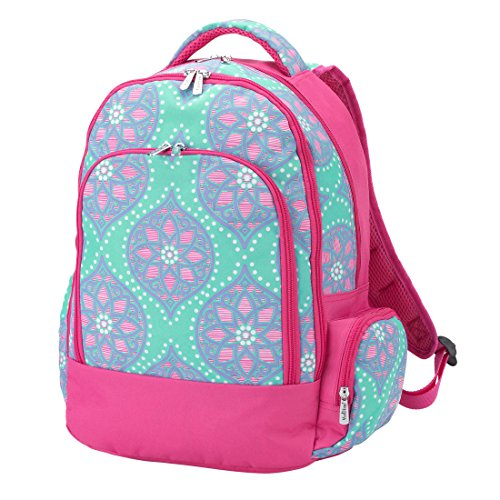 Reinforced Design Water Resistant Backpack (Personalized, Marlee Moroccan Tile)