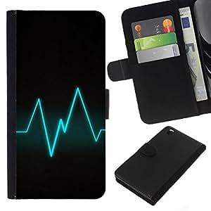 All Phone Most Case / Oferta Especial Cáscara Funda de cuero Monedero Cubierta de proteccion Caso / Wallet Case for HTC DESIRE 816 // Blue Beat