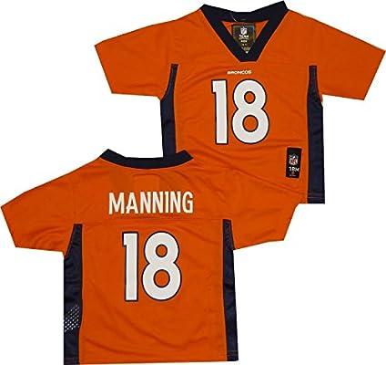 sale retailer 84334 3172a Outerstuff Peyton Manning #18 Denver Broncos NFL Infant 12-24 Months  Mid-Tier Jersey Orange