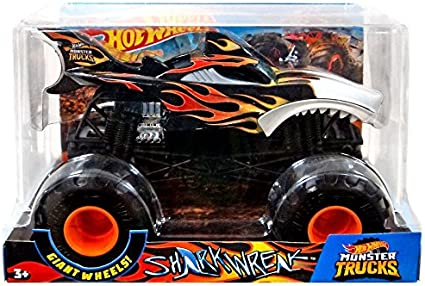 Amazon Com Hot Wheels Monster Trucks Shark Wreak Vehicle Toys Games