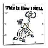 3dRose dpp_102568_2 This Is How I Roll Exercise Bike Exercising Design-Wall Clock, 13 by 13-Inch