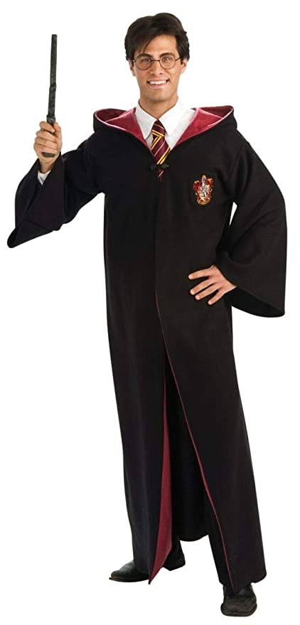 Rubies Harry Potter Adult Deluxe Gryffindor Costume Robe, As Shown, Standard