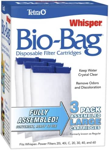 Tetra Whisper Assembled Bio-Bag Filter Cartridges for Aquariums (3 pack)