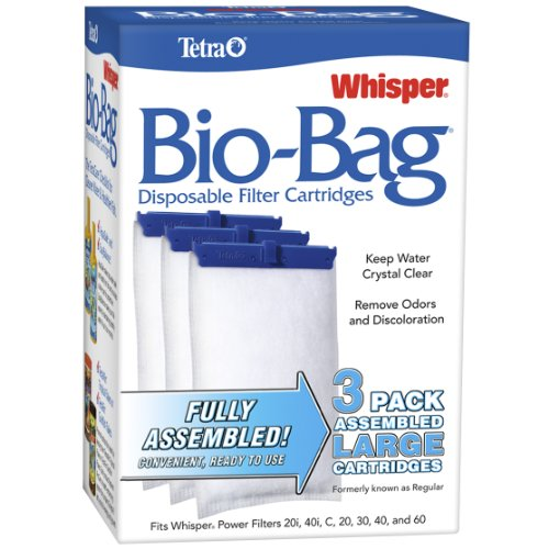 Tetra Whisper Assembled Bio-Bag Filter Cartridges for Aquariums (Tetra Whisper Power Filter 5 10 Gallon)