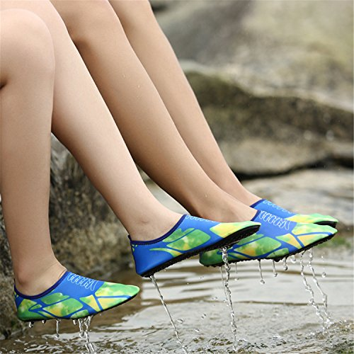 Shoes Skin Non Shoes Swimming Snorkeling Diving Safety Wading Slip Lightweight Beach Shoes Jungle AiWoo Green Shoes Drifting Outdoor 0fwAn1qx