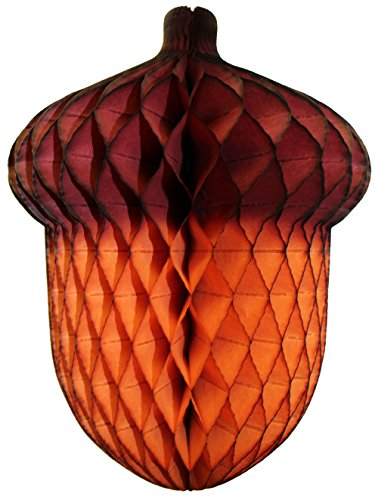 3-pack 14 Inch Honeycomb Tissue Paper Acorn Decoration -