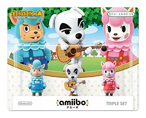 amiibo triple set [Kaizo / Totakeke / Lisa] (Animal Crossing series)