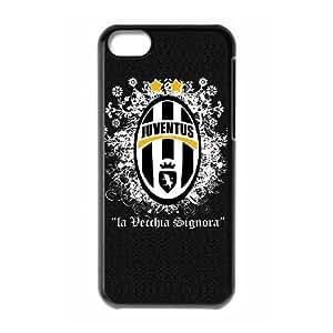Juventus 004 funda de plástico caja del teléfono celular iPhone 5C funda funda caja del teléfono celular negro cubre ALILIZHIA10101