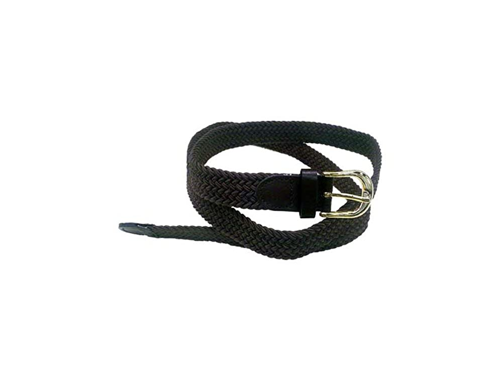 LFA Men's Casual Narrow Braided Stretch Belt With Gold Buckle And Leather Tip LFA-LA-405