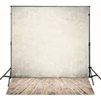 CXJ 5X7 Feet Brown Wall Photo Backdrops Pictorial Cloth Customized Suede Wood Floor Photography Background for Wedding Photo Studio Prop J01776-2