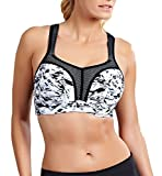 Panache Ultimate High Impact Underwire Sports Bra, 32F, Abstract Lace
