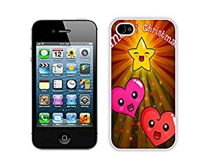 2014 Newest Iphone 4S Protective Skin Case Merry Christmas White iPhone 4 4S Case 14