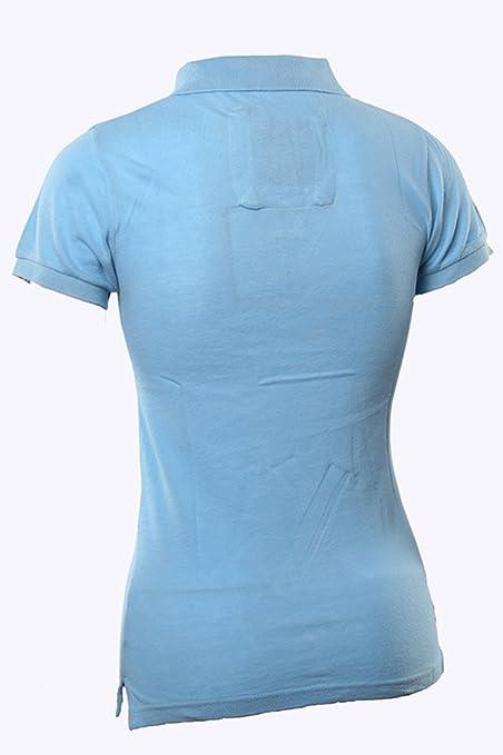 Abercrombie y Fitch clásico azul colegial mujeres Polo Azul azul ...