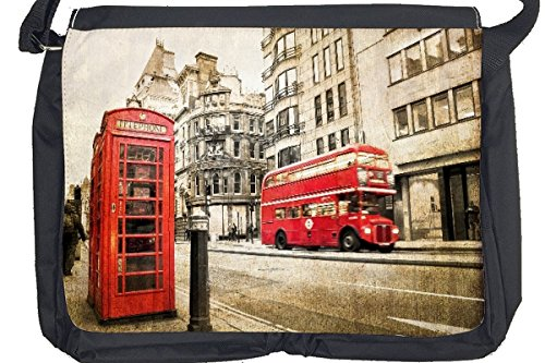 Borsa Tracolla Viaggi Cucina telefono bus rosso Londra Stampato