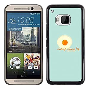 MOBMART Carcasa Funda Case Cover Armor Shell PARA HTC One M9 - Wake Up With An Omelet