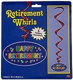 Kitchen & Housewares : Beistle 57624 5-Pack Happy Retirement Whirls, 3-Feet 2-Inch