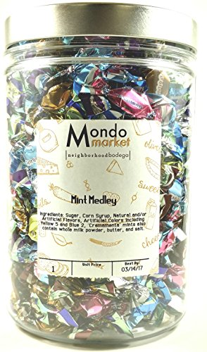 Mondo Market Glitterati Mint Medley - 11 Ounces - Container Included (Mint Medley Gift)