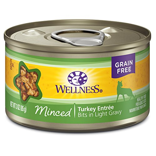 Wellness Complete Health Natural Grain Free Wet Canned Cat Food, Minced Turkey Entrée, 3-Ounce Can (Pack Of 24)