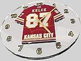 FanPlastic Travis Kelce 87 Kansas City Chiefs Wall Clock - National Football League Legends Edition !!